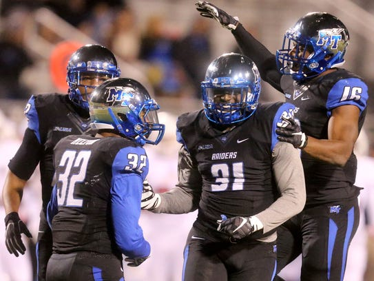MTSU's DJ Sanders (31) did just about everything on