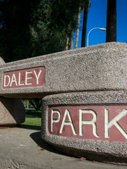 A sign announces Tempe's  Daley Park.