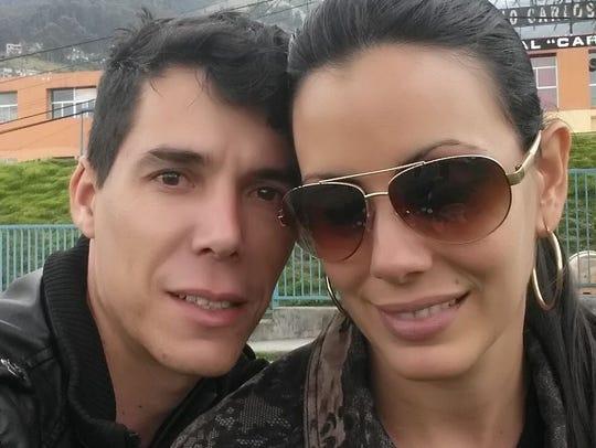 Jaime Aguilera Sierra, left, and his girlfriend, Graydelis