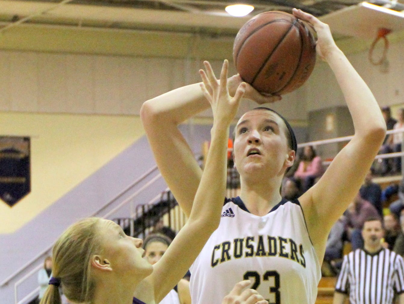 Mary Foster of Notre Dame shoots against Unadilla Valley last season in the Section 4 Class C tournament.