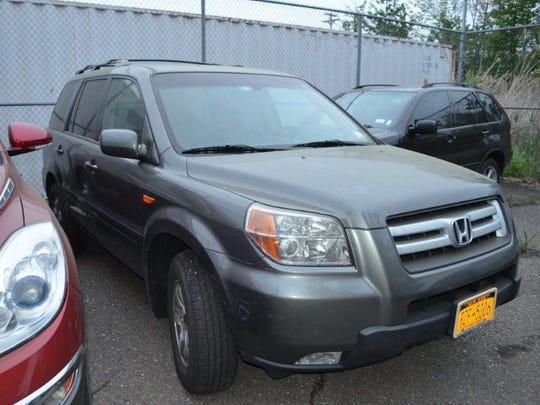 This stolen Honda Pilot was found in the Bronx