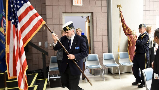 The Color Guard brings forward the American Flag at the start of the Nov. 3 Salute to Veterans at the Novi Civic Center.