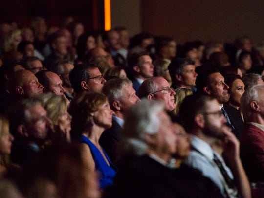 Guests begin to watch the film Alive and Kicking during the Naples International Film Festival opening night on Thursday, October 27, 2016 at Artis-Naples in North Naples.