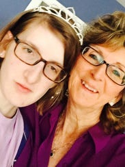 Verna Hensley, right, with her daughter, Julia.