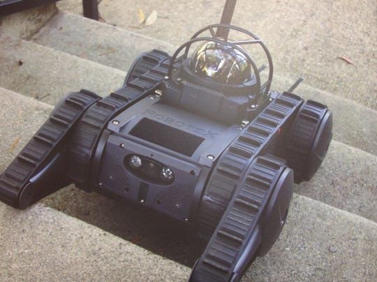 A surveillance robot Rankin County Sheriff Bryan Bailey hopes to buy for his department.