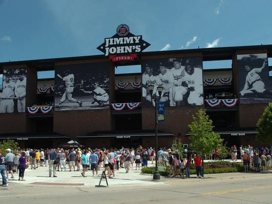 The new Jimmy John's Field is at 7171 Auburn Road in Utica, next to the Clinton River.