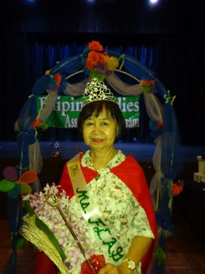 Mrs. FLAG 2018: Violeta Locsin Nombre won the title of Mrs. Filipino Ladies Association of Guam 2018 through draw lot. Mrs. FLAG 2017 Leonila Ronquillo crowned and passed on the scepter and cape with bouquet of flowers and a gift certificate at the club's monthly meeting April 2 at the Pandanus Room, Guam Reef Hotel.