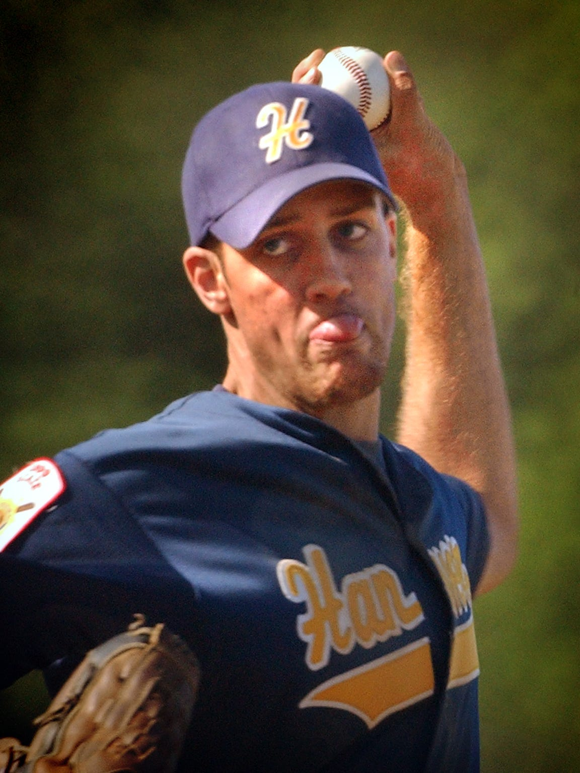 Robert Rohrbaugh pitches for the Hanover Post 14 American