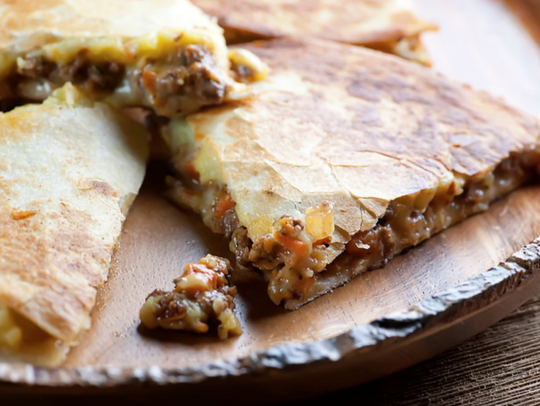 Shepherd's Pie Quesadilla