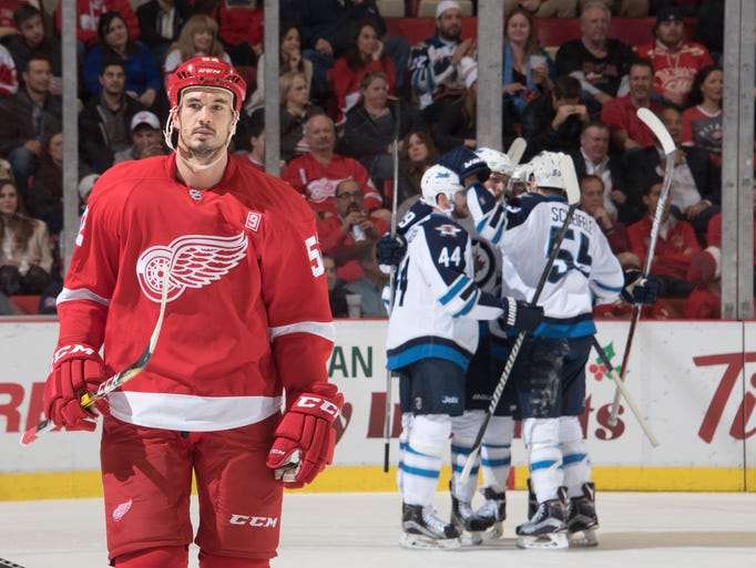 Detroit Red Wings  defenseman Jonathan Ericsson skates