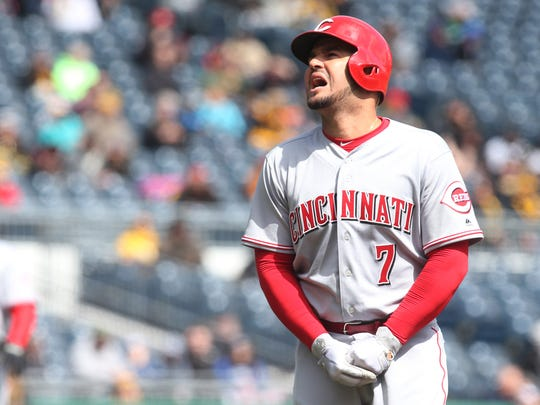 Cincinnati Reds third baseman Eugenio Suarez hopes