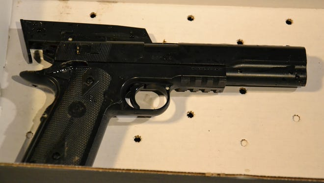 The BB gun taken from a 12-year old shot by Cleveland police. (AP)