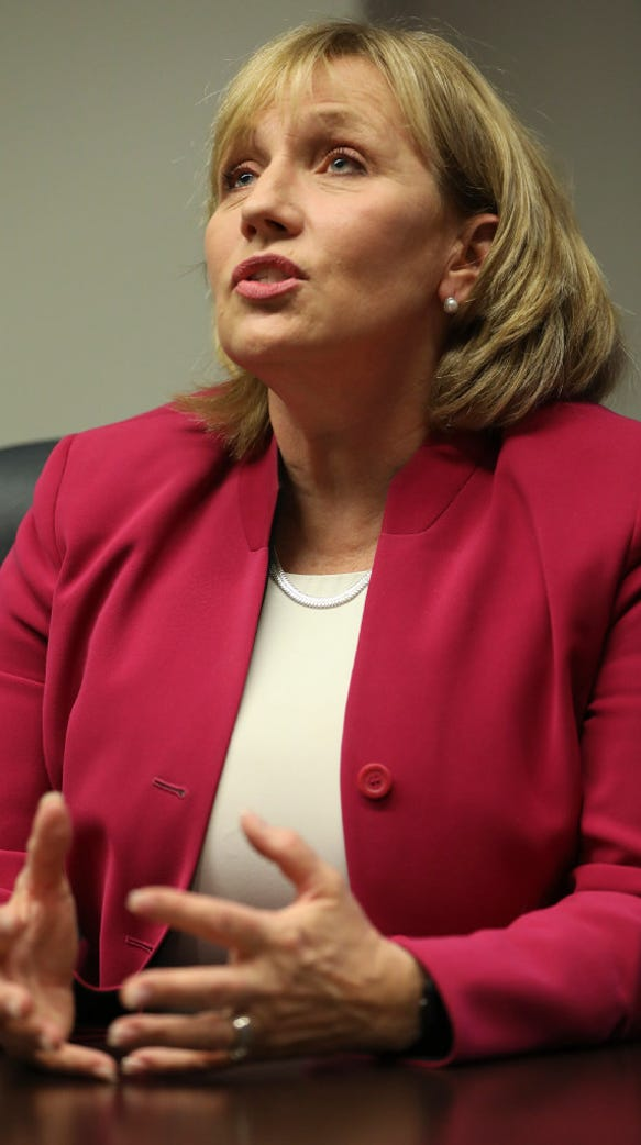 Lt. Gov. Kim Guadagno is a former Monmouth County Sheriff.