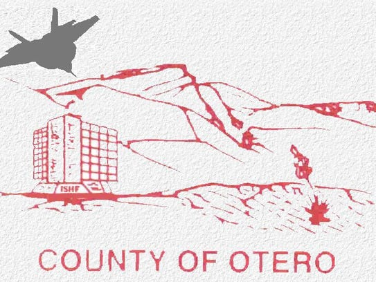 The current Otero County logo. Otero County Commissioners