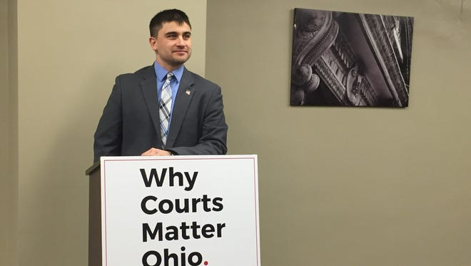 Oak Harbor Mayor Joe Helle, a U.S. Army veteran who served in Iraq and Afghanistan, discussed challenges he faced after he was removed from an Ohio voter registration roll while deployed overseas.