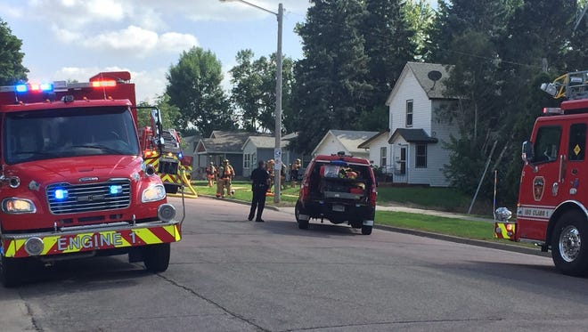 No one was injured in a small fire that broke out on the top floor of a Sioux Falls duplex on Saturday.