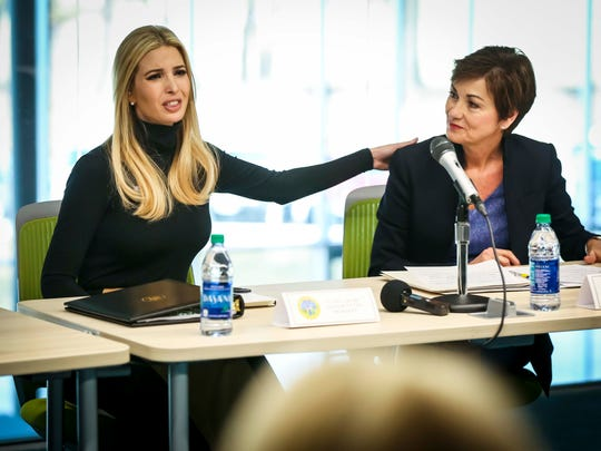 Ivanka Trump, Adviser to the President, and Iowa Gov.