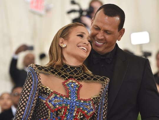 Jennifer Lopez and Alex Rodriguez arrive for the 2018