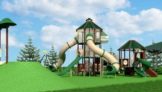 Artist rendering of the new playground to be installed at West Fork Park. Wednesday, Aug. 2, 2017