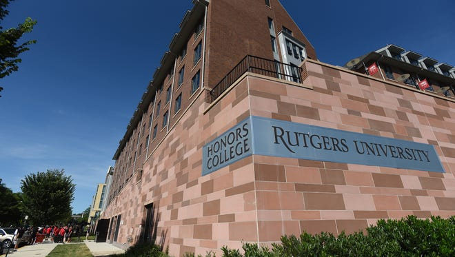 Exterior photo of Rutgers Honors College dormitory located at 5 Seminary Place in New Brunswick, photographed on 08/30/18.