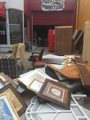 Downburst winds ripped the roof off The Salvation Army Family Store at 125 S. Front St. in Murfreesboro last week, damaging 90 percent of the contents and forcing the business to be closed for the meantime.