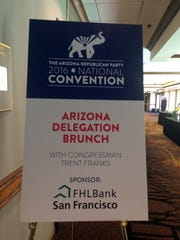 Federal Home Loan Bank San Francisco sponsored a brunch for the Arizona delegates at the Republican National Convention.