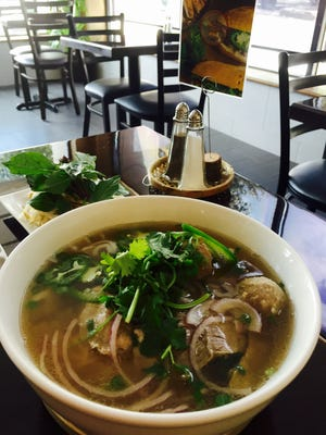 At Pho Corner Bistro in Bedford Hills, the Pho Corner Special, with rice noodles, beef broth, brisket, flank steak, tendon and beef eye round.