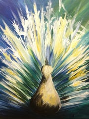 Another painting by survivors of brain injury that