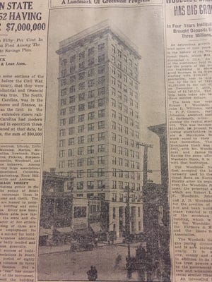 The Woodside building was once the most popular office building in Greenville.