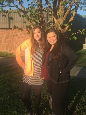 Emily Eaton, left and Morgan Wilcoxson, Cotter High School students, have been selected to attend the 2017 Arkansas Governor's School (AGS) hosted at Hendrix College.