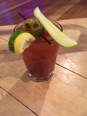 The DT Kirby's Bloody Mary came with olives, a pickle and an ample serving of spices.