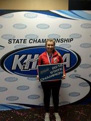 Manual High School's Kellie Kidder won the girls singles
