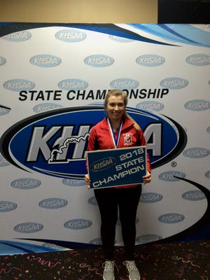 Manual High School's Kellie Kidder won the girls singles title at the State Bowling Championships on Feb. 8 in Louisville.