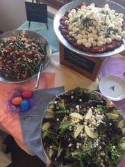 A selection of salads will be served during Easter