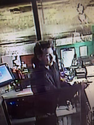 A surveillance camera captured video of a suspect in a burglary at a Citgo convenience store at 1601 N. Richmond St. in Appleton.