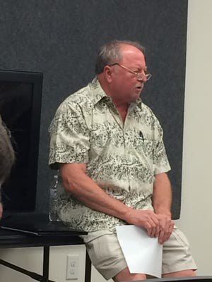 Wichita Falls attorney Rick Bunch talks to gun owners about how to deal with the criminal justice system if they have to use their weapon on self-defense during a seminar in June sponsored by Texas Law Shield at the High Caliber Gun Range.