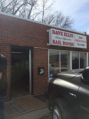 Two people attacked bail bonds workers, then fled in a vehicle at high speeds once police arrived, authorities said.