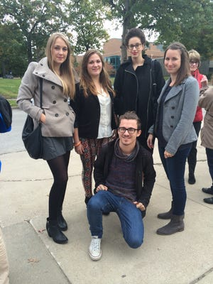 From left to right: Birgit Hollaus, 20, from Austria; Oceane Douville, 21, from France; Alexander Hecher, 21, from Austria; Julie Brazi, 21, from France; Julia Zyder, 23, from Germany.