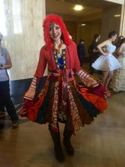 The Traveling Magician coat, designed by Erin Bass