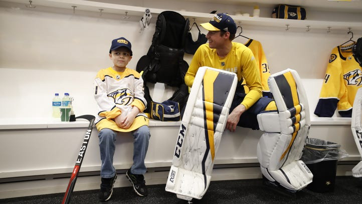 Devin Roque, an 8-year-old from Nashville who is battling