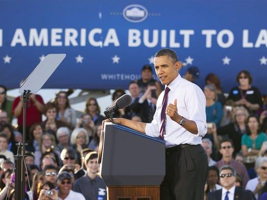 President Barack Obama visits Intel's Ocotillo campus