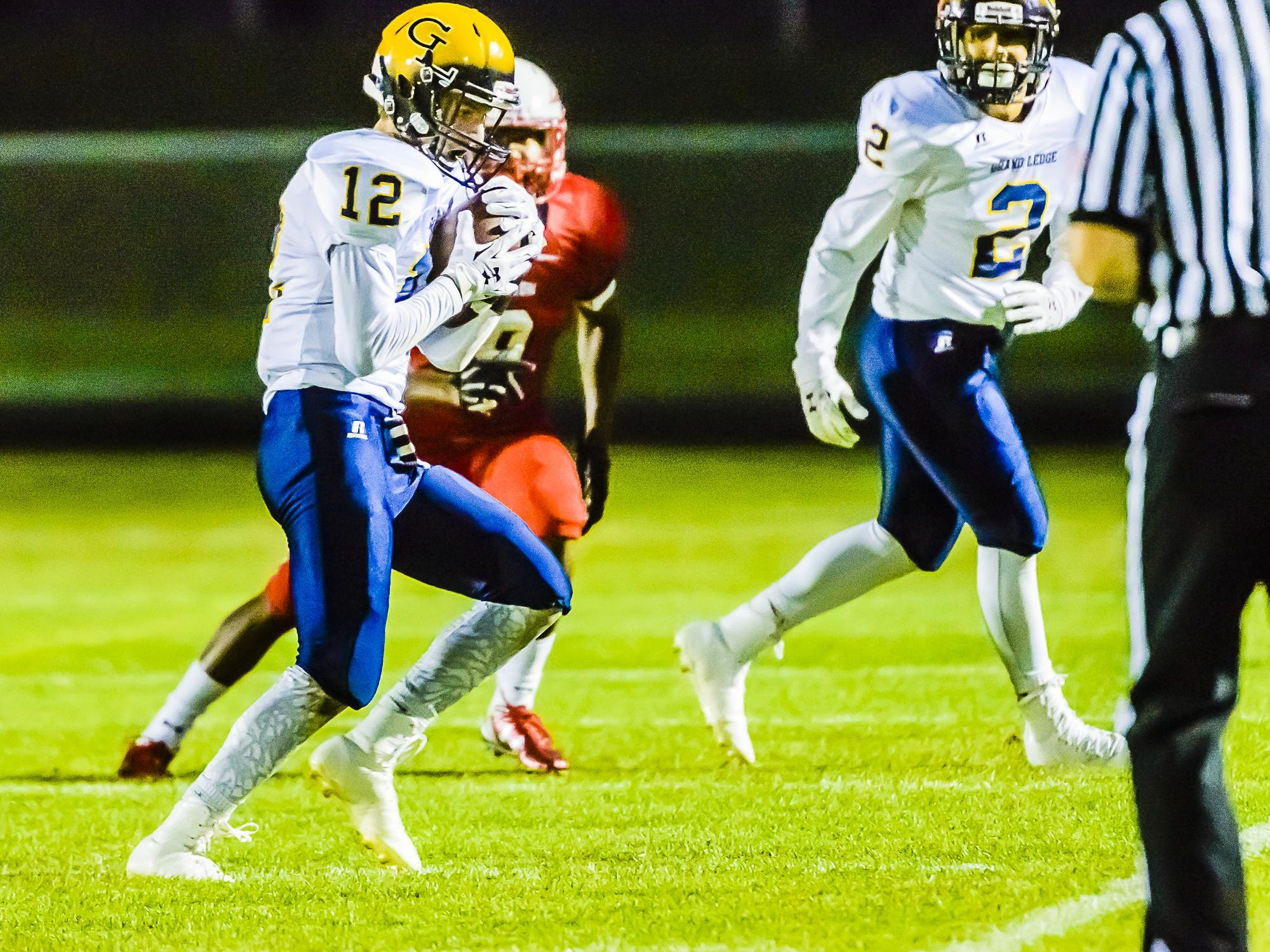 Luke Lalumia's kickoff return for a score helped special teams play make a difference for Grand Ledge in its victory over Sexton.