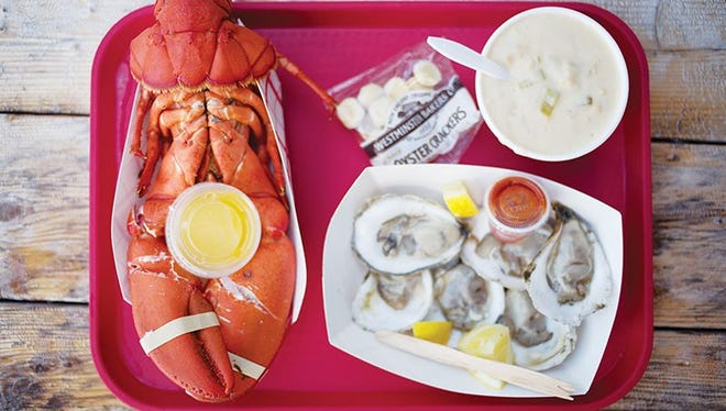 Roy Moore Lobster Co. offers chowder, clams and oysters from Glidden Point, along with a signature whole boiled lobster.