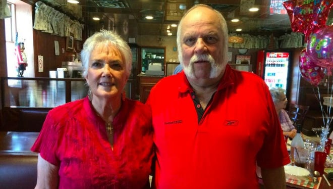 Brent Lee (r) with his wife, Jo Ann