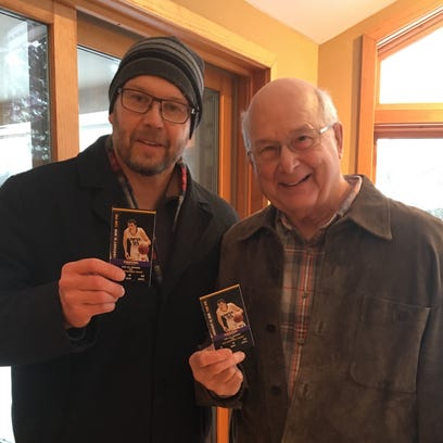 Kit Swiecki and his father, both of Stevens Point,