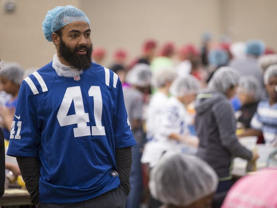 Farley is a regular at Colts charity events. In November