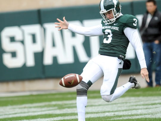 Former MSU punter Mike Sadler was killed in a car accident on July 23. He'll be inducted into the MSU Athletics Hall of Fame Thursday night.