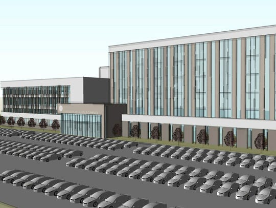A rendering of the southeast view of the proposed new