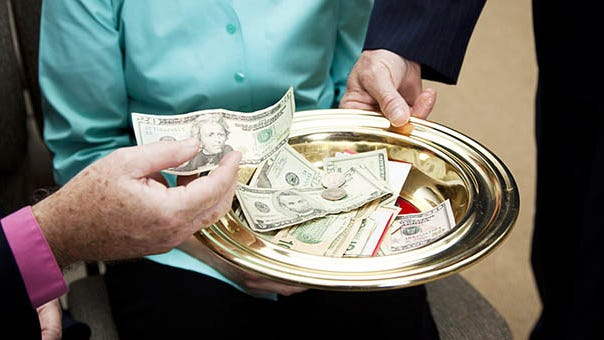 Congregations have missed the opportunity for offering collection with churches closed.