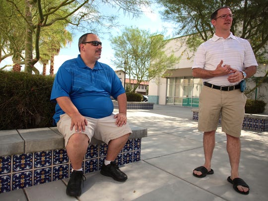 Longtime friends James Terrell, left, and Jeremy Cullifer plan to open Jule's Market next month, curtailing its services to the needs of La Quinta residents.